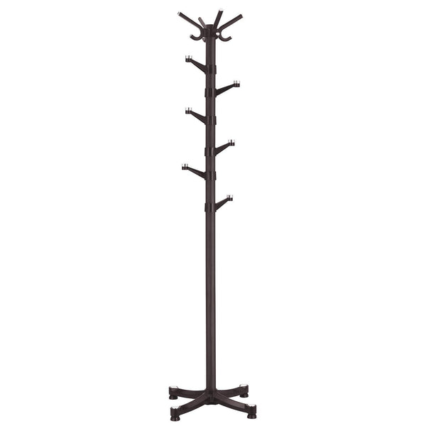 Discover the best songmics coat rack purse rack hall tree with 14 rotating plastic hooks espresso urcr19z