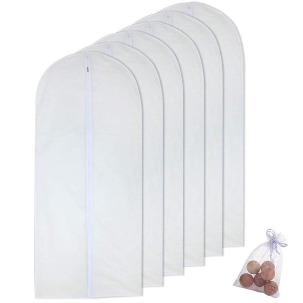 Buy homeclean moth proof garment clothing bags 24 x 60 hanging clothing storage bags with 6 cedar balls for coat dance costumes long dress and long gowns