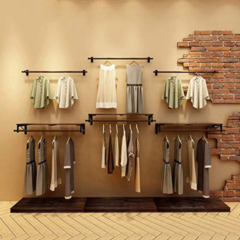 XQY Coat Racks Clothes Stand Pine Wood Single Clothing Store Shelves/Display Stand/Wall Shelves Rack/Wall Hanging on The Wall Hangers Clothes Drying Clothes Rack Stable and Durable,Clothes Tree