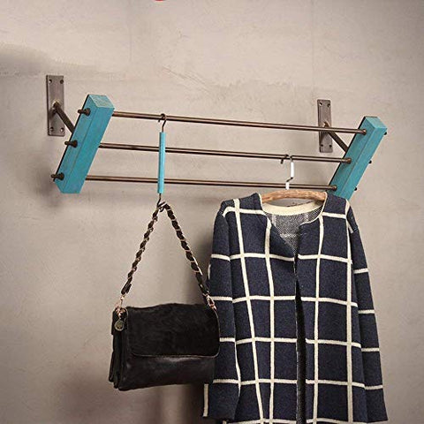 XQY Clothes Stand Coat Racks Oblique Rod Iron Clothing Racks/are Hanging Wall Clothing Wall-Mounted Display Rack/Hangers Clothes Rail/Display Stand/Wall Hanging on The Wall Hangers/Coat Rac