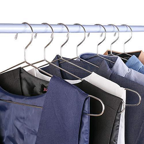 Order now davitu hangers racks 45cm stainless steel strong metal wire hangers coat hanger standard suit hangers clothes hanger 30 pcs lot