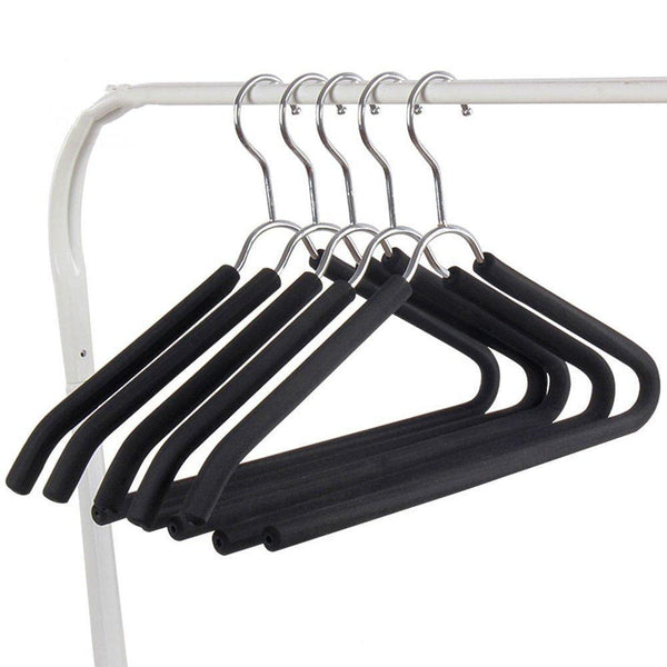 Storage organizer liangjun clothes hangers coat pants stainless steel non slip multifunctional drying rack pack of 10 40x21cm color black size 3 packs