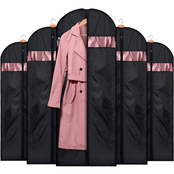 Exclusive house day garment bags for storage5 pack 60 inch garment bags for travel lightweight oxford fabric suit bag for storage and travel closet washable suit cover for dresses suits coats
