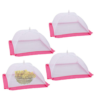 Mesh Food Cover Tents, 4 Pack 17 Inch Pop-up Screen Food Tents Umbrella for Outdoors, Protect Your Food and Fruit at Picnics, BBQ and More