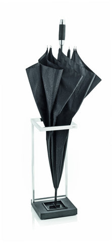 Stainless Steel Umbrella Stand W/Polystone Base