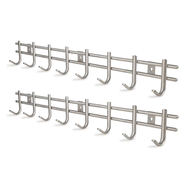 Explore webi wall mounted coat rack hooks heavy duty sus 304 wall hooks rack robe hooks metal decorative hook rail for bathroom kitchen office entryway hallway closet 8 hooks brushed finish 2 packs