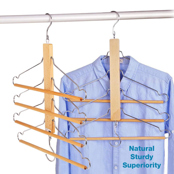 Top bestool pants hangers wooden pant hangers non slip wood hangers clothes hangers for closet space saving heavy duty coat hanger huggable baby hangers dual use trouser hanger