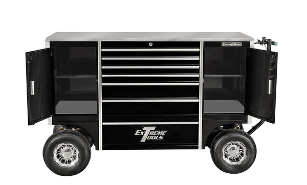 Order now extreme tools txpit7009bk tx series 7 drawer and 2 compartment pit box with ball bearing slides 70 inch black high gloss powder coat finish