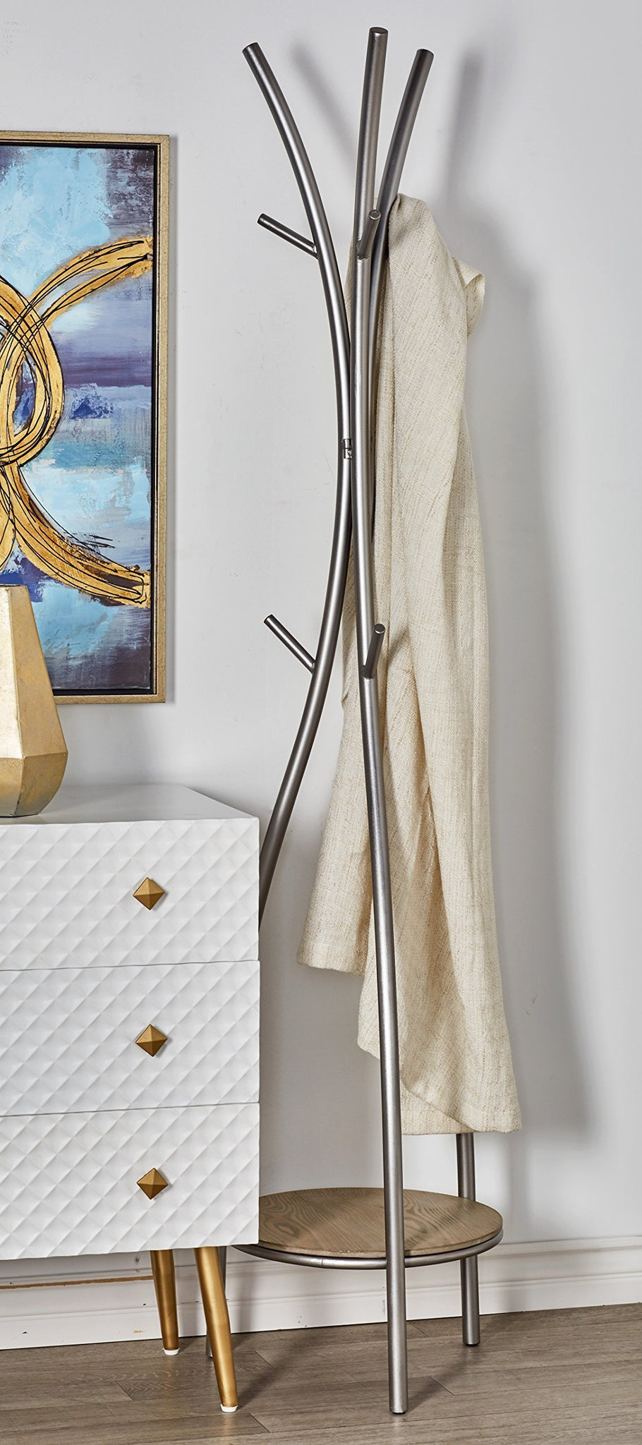 Try deco 79 77602 coat rack silver