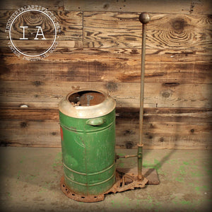 Vintage Industrial Antique Hand Operated Crown Vacuum Cleaner Parts Wastebasket