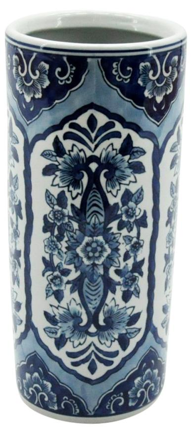 Blue & White Pattern Umbrella Stand 18""