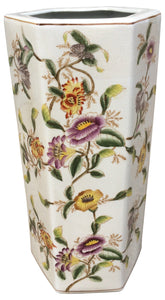 Hedgerow Flowers Hexagonal Umbrella Stand 18""