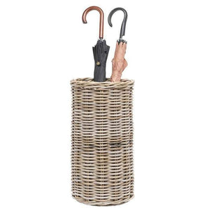 Malta Rattan Umbrella Stand (Mixed Gray) - Large