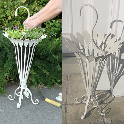 Umbrella Shaped Brolly Stand / Planter