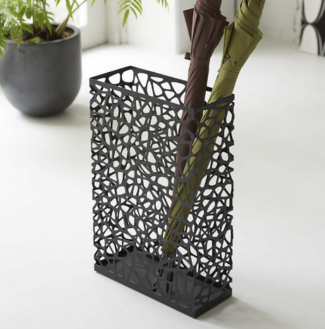 Nest Umbrella Stand Black Long Rectangle