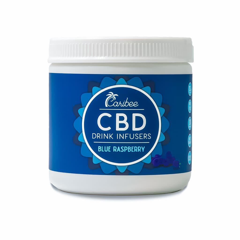 CBD Drink Mix Blue Raspberry 30 Serving Tub