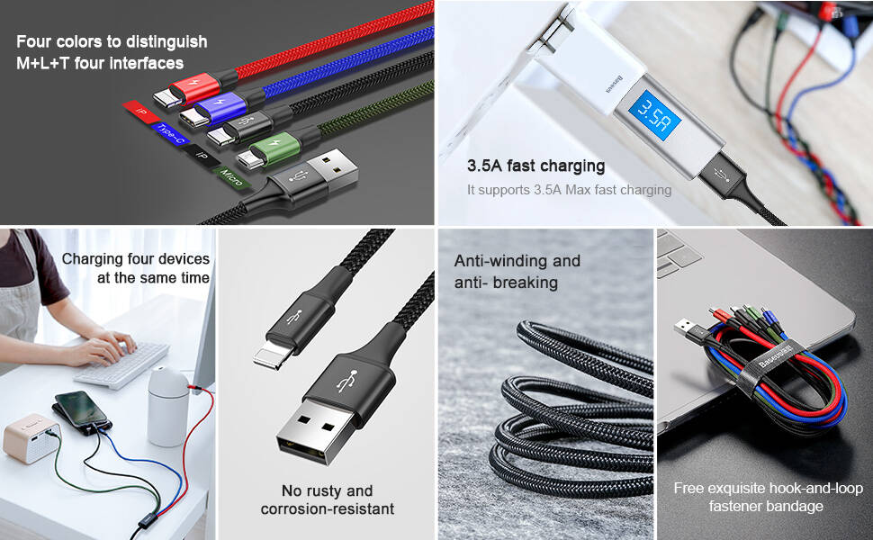baseus 3 in 1 usb type c cable