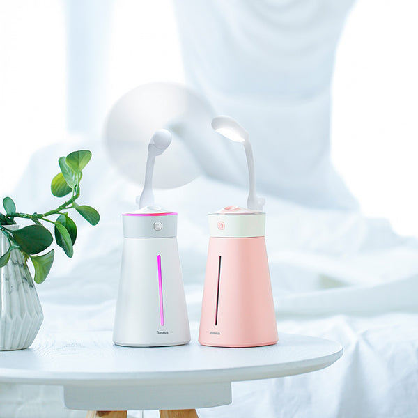 Air Humidifier With Colorful Light Fan
