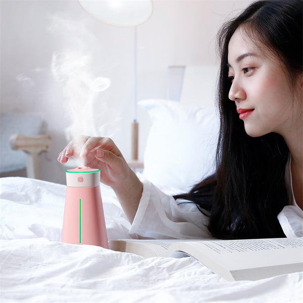 Aroma Air Humidifier With Colorful Light Fan