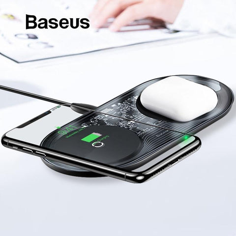 15W Dual Wireless Charger for IP 11 Pro Max X XS Max XR - Baseus
