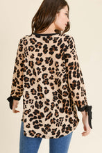 Load image into Gallery viewer, Animal Print Tunic with Ribbon Detail