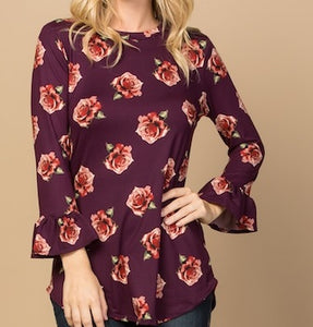 Ruffle Floral Blouse