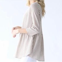 Load image into Gallery viewer, Striped Peplum Top
