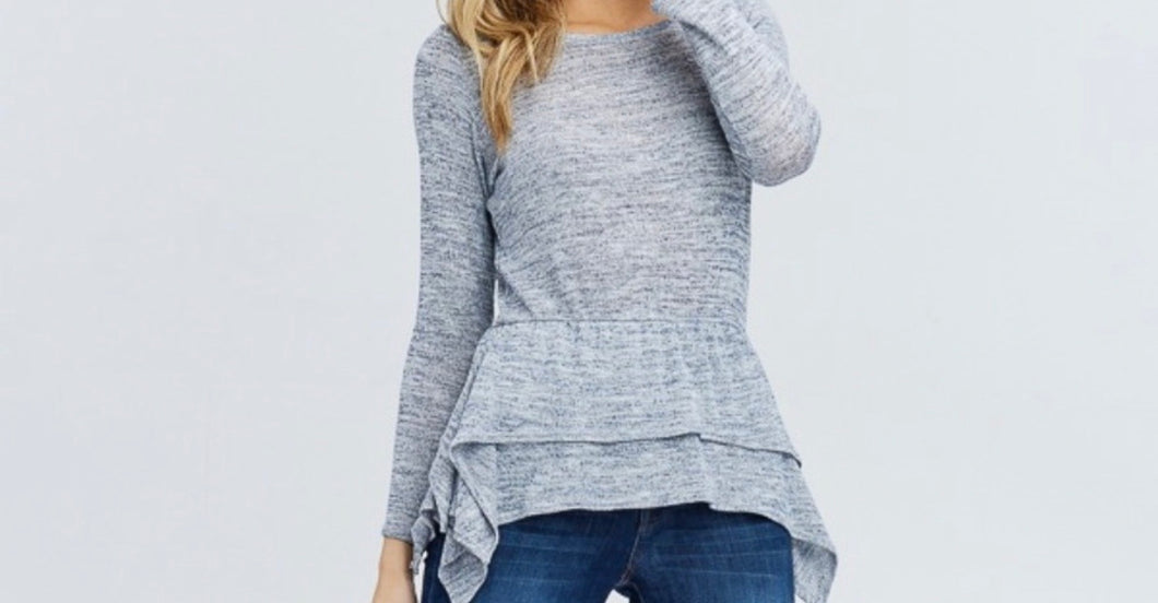 Camila Ruffle Knit Top