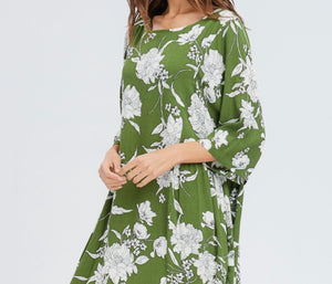 Camila Floral Print Shirring Dress