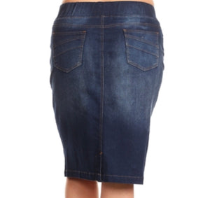 """Sarah"" Washed Jean Skirt"