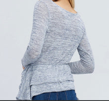 Load image into Gallery viewer, Camila Ruffle Knit Top
