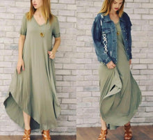 Load image into Gallery viewer, Sage Maxi Dress