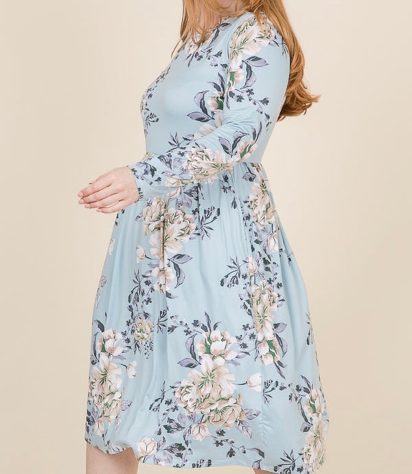 Spring Empire Waist Midi Dress