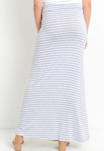 Misty Pearl Striped Maxi Skirt