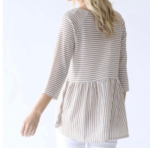 Striped Peplum Top