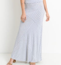 Load image into Gallery viewer, Misty Pearl Striped Maxi Skirt