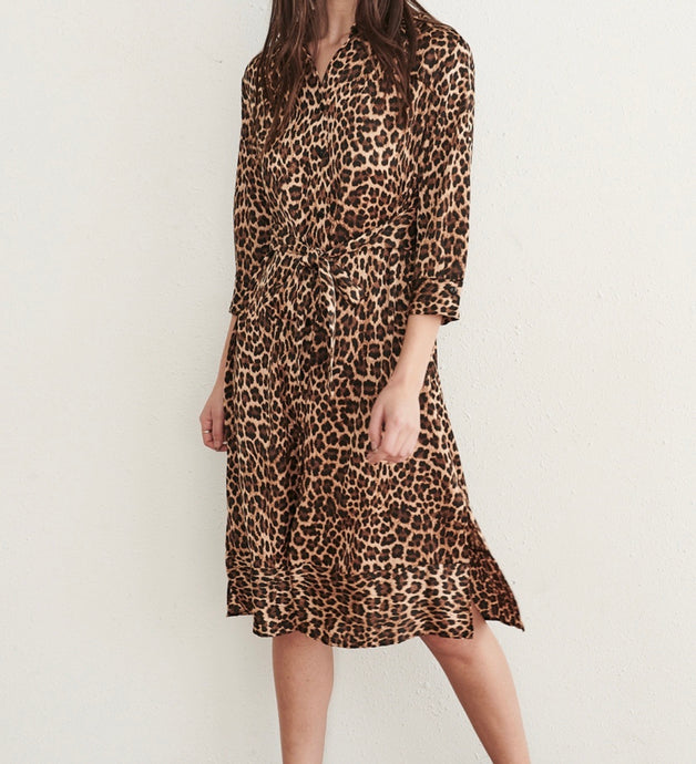 Leopard Belted Tunic