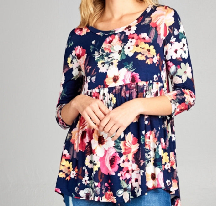 Baby Doll Floral Top