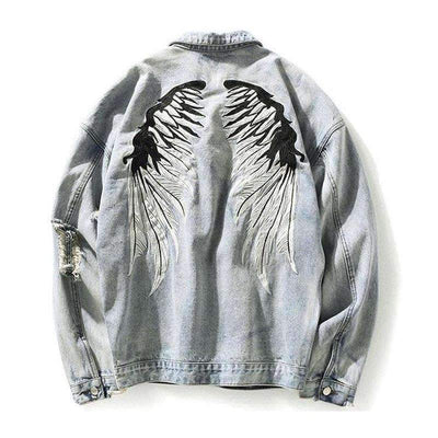 Paquena Muerte Denim Jacket - IkigaiSoul