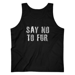 Say No To Fur Men's Tank Top