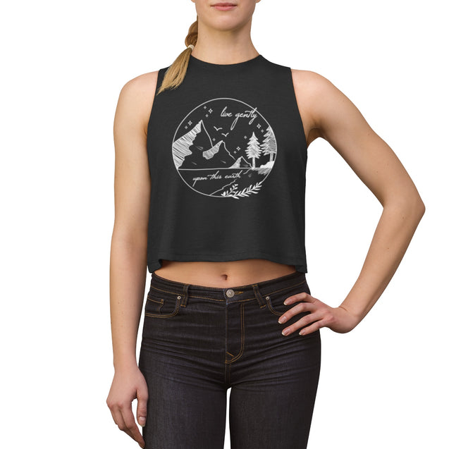 Live Gently Upon This Earth Women's Crop Top