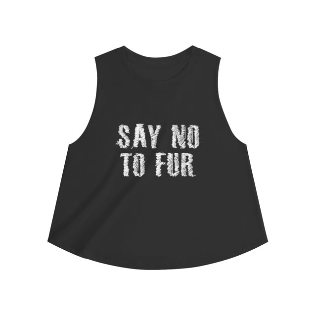 Say No To Fur Women's Crop top