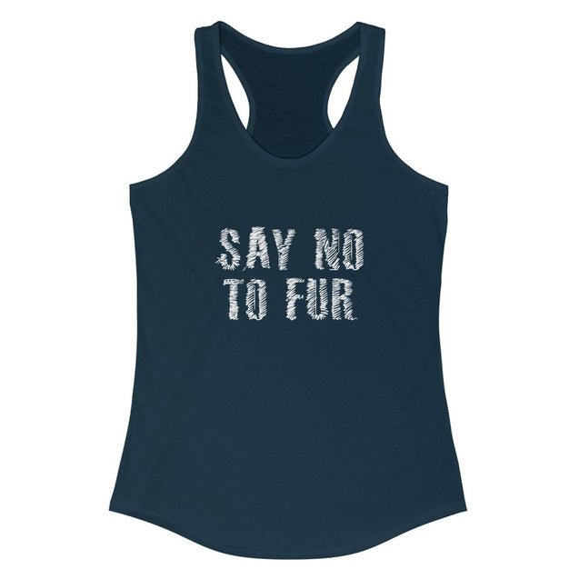 Say No To Fur Women's Tank  Top