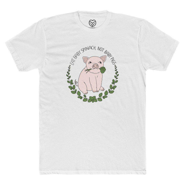Eat Baby Spinach Not Baby Pigs Men's T-shirt