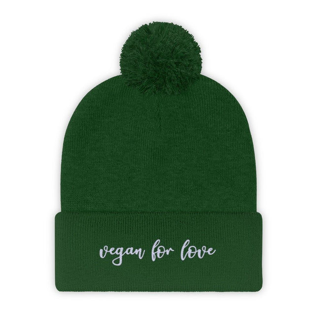 Vegan For Love Pom Pom Beanie