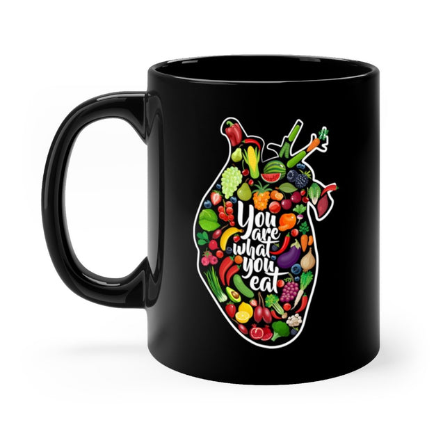You Are What You Eat Black Mug