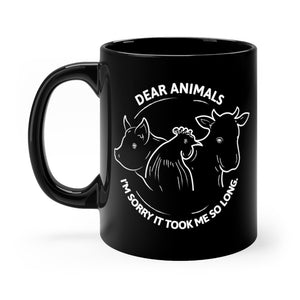 Dear Animals Black Mug