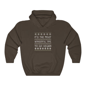 It's The Most Wonderful Time To Go Vegan Unisex Hoodie