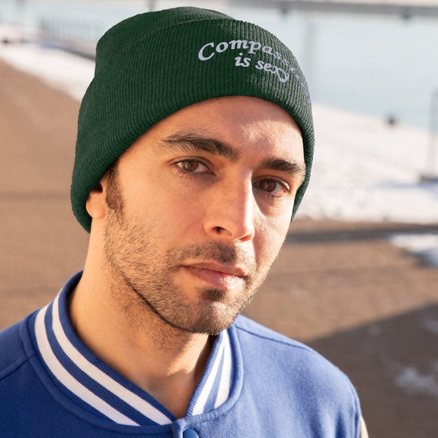 Compassion Is Sexy Knit Beanie