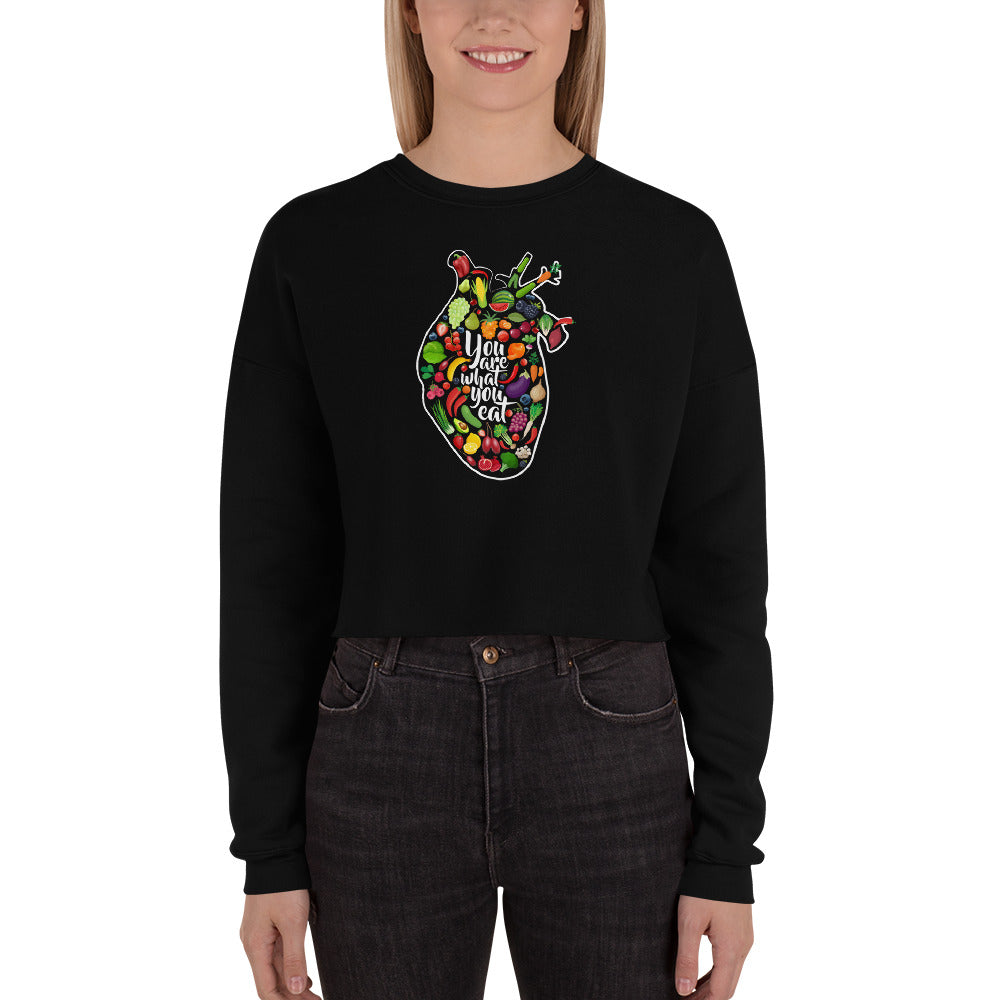 You Are What You Eat Crop Sweatshirt